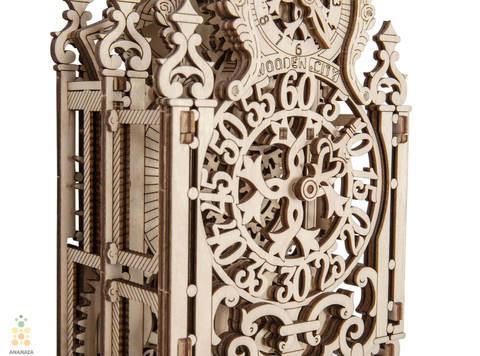 Королевские часы (Wooden City) - Деревянный конструктор, сборная модель, 3D пазл