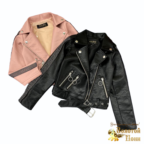 Куртка экокожа девочке (5-10) 210805-К77818