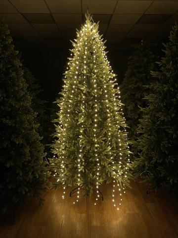 Светодиодная гирлянда хвост теплый белый свет