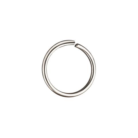 Кольцо для пирсинга в нос 8 мм (белое золото)