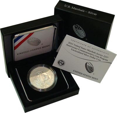 1 доллар 2015 Служба федеральных маршалов. США. Серебро. UNC