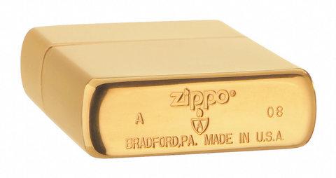 Зажигалка Zippo с покрытием Brushed Brass, латунь/сталь, золотистая, матовая, 36х12х56 мм123