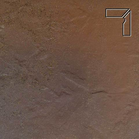 Ceramika Paradyz - Semir Beige, 300x81x11, артикул 5215 - Цоколь правый структурный 2-х элементный