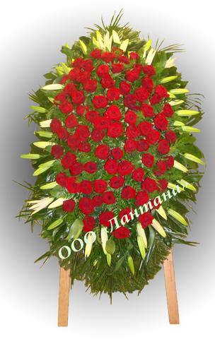 Венок из живых цветов элит ВЖ-32