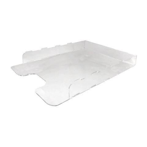 Лоток для бумаг горизонтальный прозрачный (формат А3)
