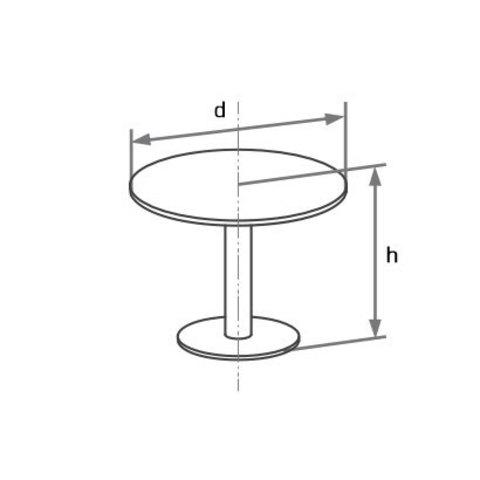 Конференц-стол круглый на алюминиевой опоре БОСТОН