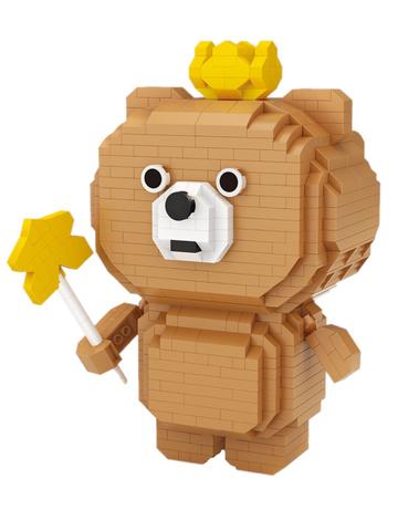 Конструктор LOZ Медведь Кома 780 деталей NO. 9244 Bear Koma iBlockFun Series