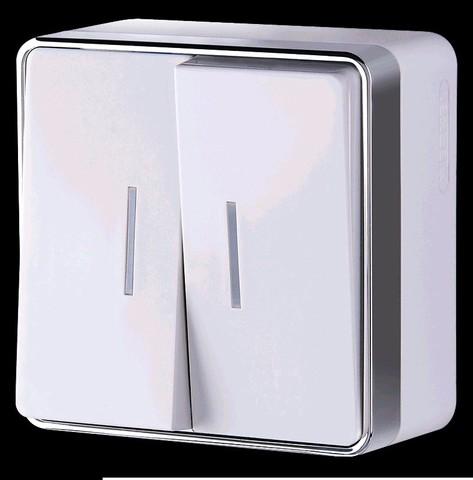Выключатель Werkel WL15-03-03 белый (2-кл с подсв)