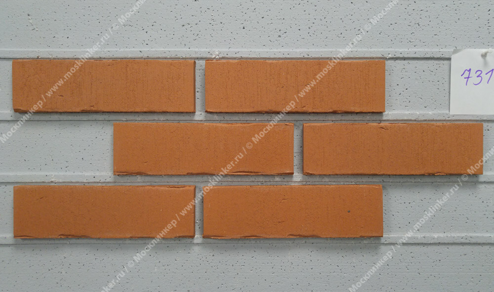 Feldhaus Klinker - R731NF14, Vascu Terracotta Oxana, 240x14x71 - Клинкерная плитка для фасада и внутренней отделки