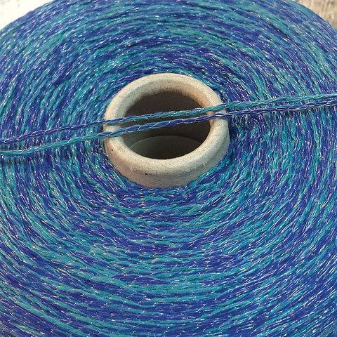 Смесовка со льном Casa Del Filato / BERRY  320 бирюзово-синий