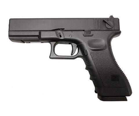 Страйкбольный пистолет Glock G18, Грин-газ, черный (KJW)