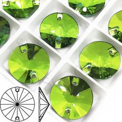 Стразы пришивные Rivoli Peridot, Риволи Круг Перидот светло-зеленый для фигурного катания