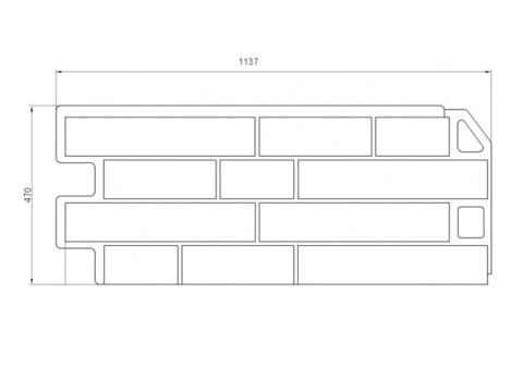 Техрисунок фасадная панель Сланец