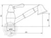 Смеситель для кухни с выдвижной лейкой Migliore Maya BN.CUC-8995 схема