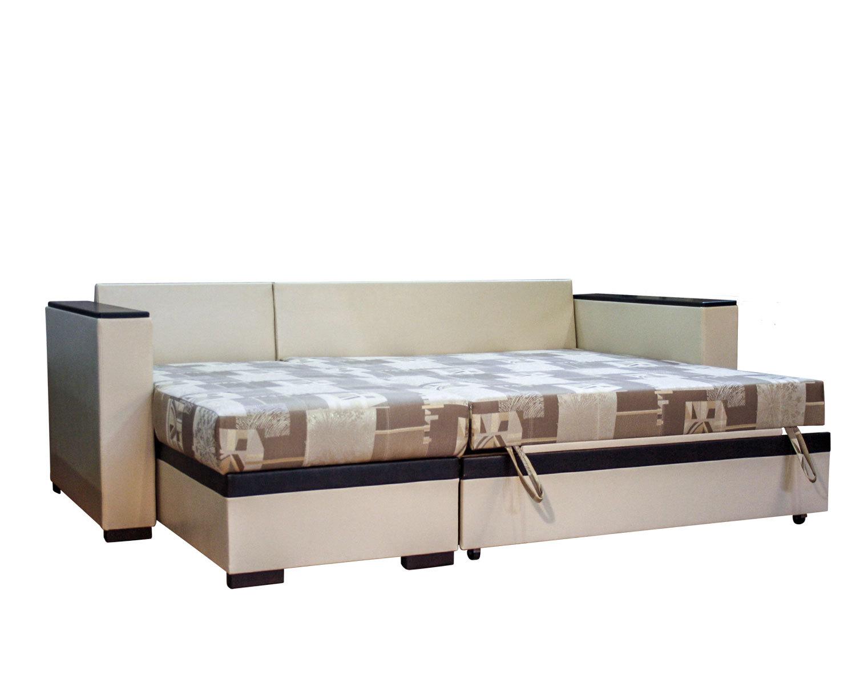 угловой диван-кровать Карелия-Люкс 2я2д без стола, спальное место 138х203 см