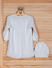Рубашка крестильная ( кремовый, 74 см)