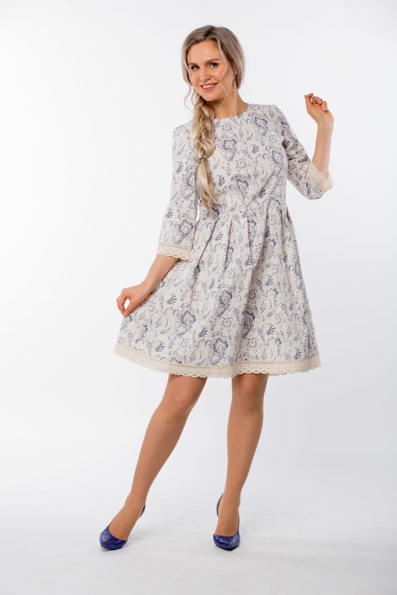 Платье льняное Первоцвет юбка