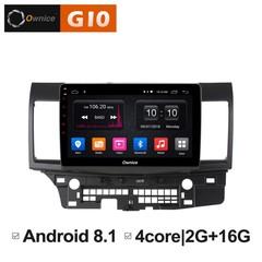 Штатная магнитола на Android 8.1 для Mitsubishi Lancer X Ownice G10 S1632E