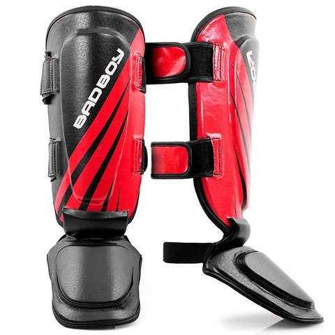 Щитки Bad Boy Training Series Impact Thai Shin Guards-Black/Red