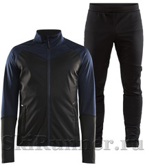 Утепленный лыжный костюм Craft Glide XC 2020 Black-Blue мужской