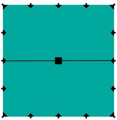 Тент Tramp 6*6м (зеленый)