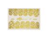Фольга для дизайна ногтей цвет золото 57 купить за 120руб