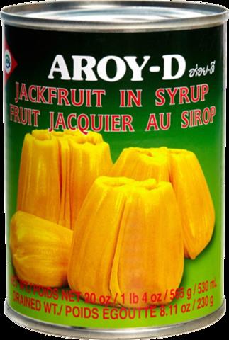 Консервированный джекфрут AROY-D половинки в сиропе, жестяная банка 565 г