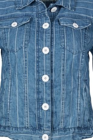 Marc Cain Куртка джинсовая в полоску