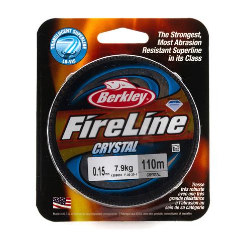 Плетеная леска Berkley Fireline Полупрозрачная 110 м .0,15 мм. 7,9 кг. Crystal (1308650)