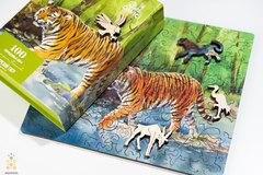 Амурский тигр от DAVICI - сборные пазлы причудливой формы, это картины, которые вы собираете сами