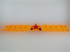 Надувная гирлянда Звезда с колосьями