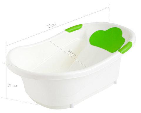 Ванночка ROXY-KIDS с анатомической горкой и сливом.