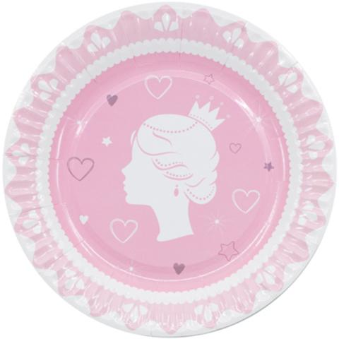 Тарелки малые Принцесса, 6 шт