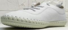 Женские мокасины на лето. Белые кеды женские Rozen 115 All White.