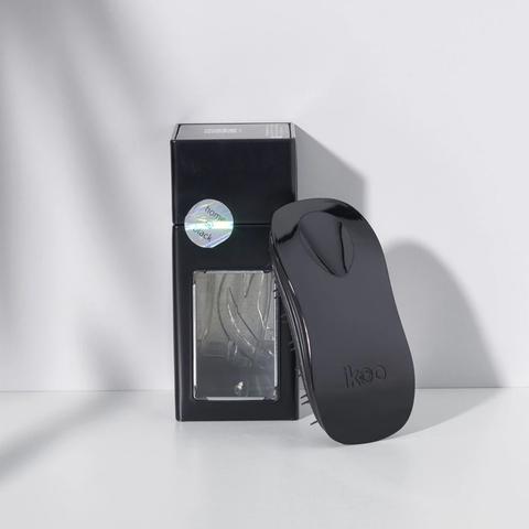 ikoo home black | расческа-детанглер для бережного расчесывания волос черная