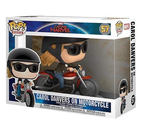 Фигурка Funko POP! Rides: Marvel: Captain Marvel: Carol Danvers on Motorcycle 36418
