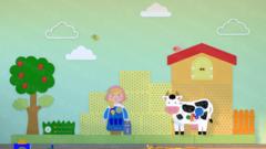 Декоративно-развивающая панель «Молочная ферма»