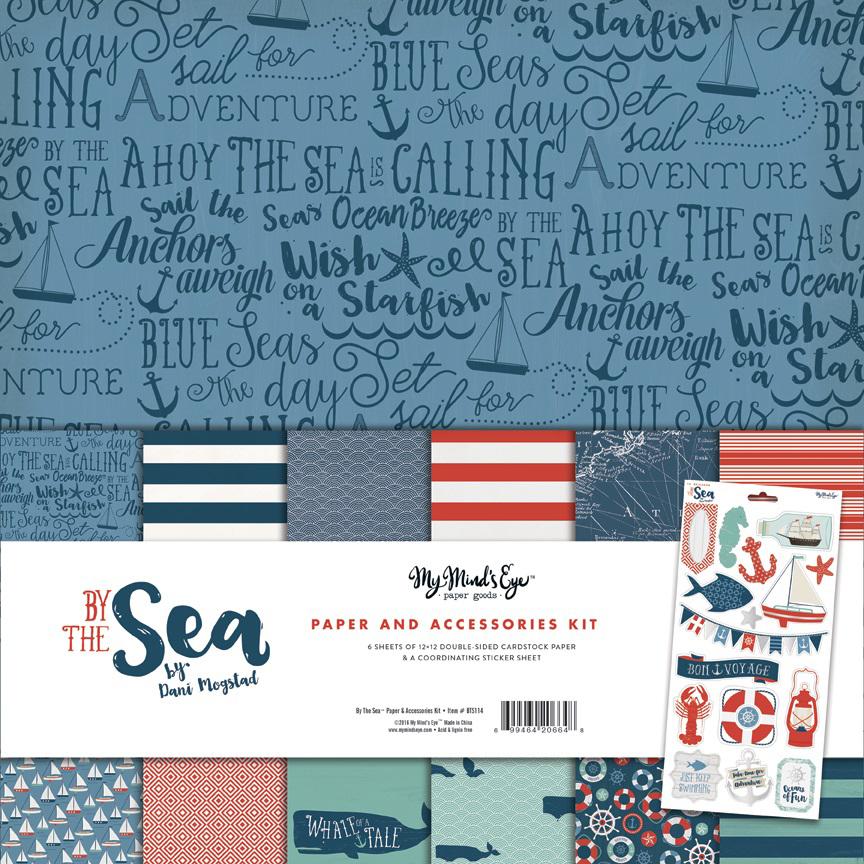 KIT -набор двусторонней бумаги  30 х30 см из коллекции BY THE SEA от My Mind