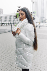 Куртка длинный пуховик надя