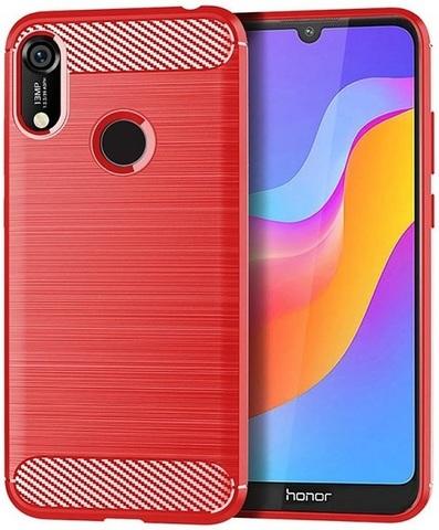 Чехол для Huawei Y6 2019 (Honor 8A Pro) цвет Red (красный), серия Carbon от Caseport