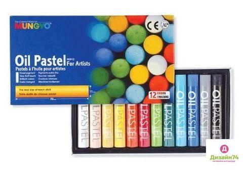 Масляная художественная пастель в наборе Mungyo 12 цветов в картонной коробке
