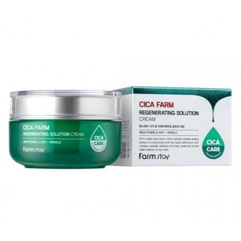 Восстанавливающий крем для лица с центеллой азиацкой 500 мл FarmStay Cica Farm Regenerating Solution Cream, 50ml