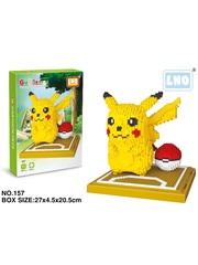 Конструктор LNO покемон Пикачу большой 1260 деталей NO. 157 big Pikachu Gift Series