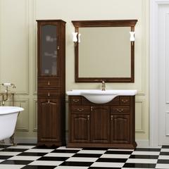 Мебель для ванной Opadiris Риспекто 107х90,5х51см. с керамичсекой раковиной и зеркалом с светильниками.