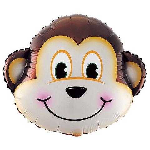 Шар фигура Голова обезьянки, 64 см
