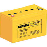 Аккумулятор YELLOW RTM 12-100PL ( 12V 100Ah / 12В 100Ач ) - фотография