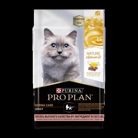 Purina Pro Plan Nature Elements Adult Derma Care Сухой корм для кошек для здоровья кожи и шерсти с лососем
