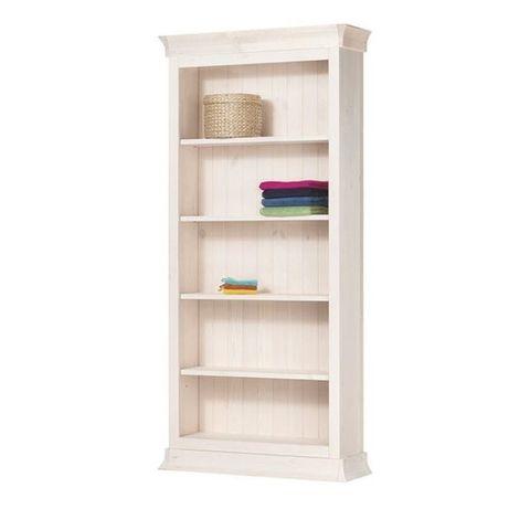 Шкаф для книг Бостон 1000x405 (белый воск)