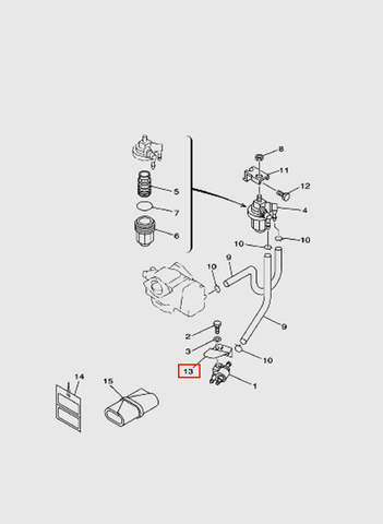 Кронштейн  для лодочного мотора T15, OTH 9,9 SEA-PRO (6-13)