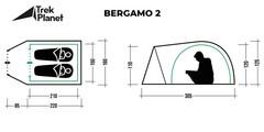 Палатка Trek Planet Bergamo 2 - 2